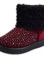 Women's Shoes Flat Heel Round Toe Boots Casual Black / Gray / Burgundy