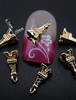 100pcs New Fashion  Gold Metal Pyramid Shape Nail Art