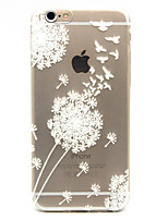 For iPhone 7 Plus White Dandelion Pattern TPU Relief Back Cover Case for iPhone 6s 6 Plus