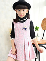 Girl's Black / Pink / Red Dress , Floral Cotton Blend Winter / Spring / Fall