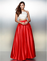 Formal Evening Dress - Multi-color A-line Spaghetti Straps Ankle-length Satin