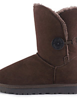 Women's Shoes Suede Flat Heel Snow Boots / Fashion Boots Boots Party & Evening / Casual Black / Gray / Taupe