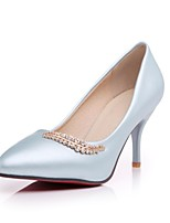 Women's Shoes Cone Heel Comfort / Pointed Toe Heels Outdoor / Office & Career / Dress / Casual Blue / Pink / White