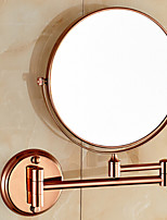 Mirror / Bathroom Gadget , Neoclassical Rose Gold Wall Mounted