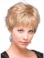 Top Quality Fashion Short Curly Wavy Wig Blonde Color Woman's Synthetic Wigs Hair