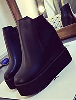 Women's Shoes  Chunky Heel Creepers Boots Casual Black