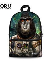 FOR U DESIGNS Cotton Casual Orangutan Shoulder Bags/Laptop Backpacks/School Bags