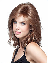 Best Sell Top Quality Fashion Short Curly Wig Brown Color Woman's Synthetic Wigs Hair