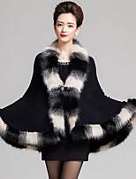Women Lamb Fur Shawl & Wrap , Belt Not Included