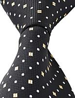 White Dots Pattern Black Business Leisure Career Men Necktie