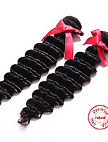 EVET 2Pcs Lot Peruvian Virgin Hair Peruvian Deep Wave Virgin Human Hair Unprocessed Hair Extension Weave