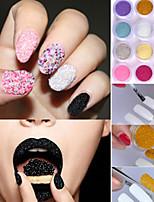 1PCS  Transparent Color Glass Beads 3D Caviar Nail Art Decoration Tools