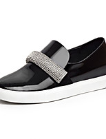Women's Shoes Patent Leather Wedge Heel Comfort / Round Toe Loafers Dress / Casual Black