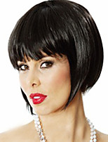 Hot Selling Factory Wholesale Black Color BoBo Synthetic Wigs Is Euramerican Style Wig Hot Style