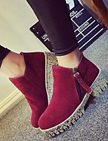 Women's Shoes  Chunky Heel Fashion Boots Boots Casual Black / Brown / Burgundy