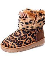 Women's Shoes Fleece / Fabric Low Heel Snow Boots / Bootie / Comfort / Round Toe Boots Casual Brown / Yellow / Red