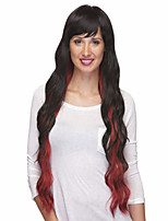 Natural Long Curly Hair Top Quality Mix Color Synthetic Wig For Woman