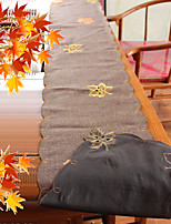 Multi-Purpose  Tablecloth With Size30X180CM&13X71INCH) With Embroidery Applique