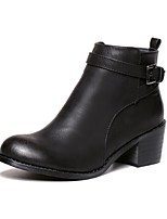 Women's Shoes Chunky Heel Motorcycle Boots Boots Casual Black / Brown