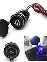 Dual USB Car Cigarette Lighter Socket 12V Charger Receiver Power Adapter Outlet