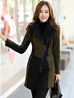 Damen Mantel  -  Retro / Leger Langarm Polyester