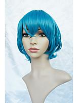 Lanting cos sterrenhemel Mizushima iku korte blauwe pruik cosplay party anime hair