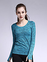 Yoga Tops Breathable / Quick Dry / Wicking /Warm High Elasticity Sports Wear Yoga / Fitness Women's