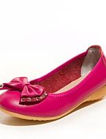 Women's Shoes Leather Wedge Heel Comfort / Round Toe Heels Outdoor / Office & Career / Dress Black / Brown / Red / Beige