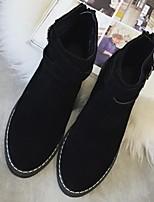 Zapatos de mujer - Tacón Plano - Botas Anfibias - Botas - Exterior / Casual - Piel - Negro / Beige