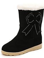 Chaussures Femme - Décontracté - Noir / Rouge / Gris - Talon Bas - Bout Arrondi - Bottes - Tissu