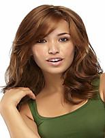 marrone chiaro parrucche breve rettilineo naturali capelli con botto lato