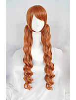 LanTing Cos  Lily Bear Storm Orange Long Cosplay Wig Party Anime Hair