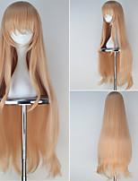 Doma Umaru Long Wavy Golden Color Girl's Anime Cosplay Full Wig