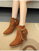 Women's Shoes Fleece Stiletto Heel Fashion Boots Boots Casual Black / Brown