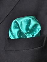Men's Pocket Square Light Green Solid  100% Silk Business