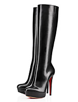 Women's Shoes Leatherette Stiletto Heel Fashion Boots / Pointed Toe Boots Wedding / Office & Career