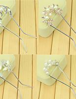 South Korean Hair Bride U-Shaped Clip Hairpin Of Pearl Diamond Hairpin Twist One Randomly
