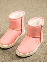 Girls' Shoes Outdoor / Dress / Casual Snow Boots / Round Toe / Closed Toe Faux Suede Boots Black / Pink