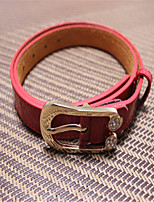 The New Set Auger Lady Leather Pin Buckle Belts