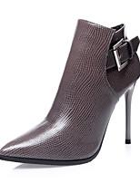 Chaussures Femme - Habillé / Décontracté - Noir / Rouge / Gris - Talon Aiguille - Talons / Bottine / Bout Pointu / Bout Fermé - Bottes -
