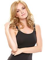 di alta qualità sintetico parrucca platino senza cappuccio biondi lunghi ondulati capelli sintetici