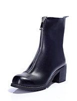 Women's Shoes Leather Chunky Heel Riding Boots / Square Toe / Closed Toe BootsOutdoor / Office & Career / Dress /