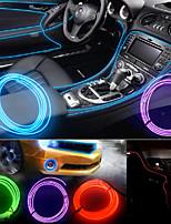 Yobo diy auto decoratie licht controle flexibele auto decoratie 3W 240lm licht el strip - (dc 12v / 5m)