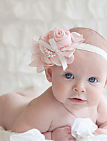 Kid's Cute Pearls Flowers Elastic Headband