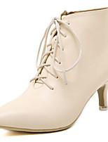 Women's Shoes Kitten Heel Fashion Boots Boots Casual Black / Beige