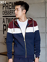 Hitz mens jacket slim hooded youth Korean color sweater casual male thin coat tide