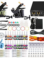 ITATOO® Tattoo Kits for Beginners with 2 Beginner Tattoo Machines 1 Power Unit 20 Ink Pigment