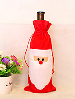 2PCS Christmas Decorations Santa Claus Gift Bags Wine Bags Wine Sets Champagne