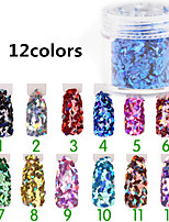 12pcs Manicure Diamond Jewelry Accessories Sequins 12 Color Glitter Sequins Gradient Powder