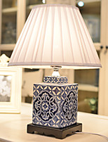Desk Lamps LED / Eye Protection Traditional/Classic Blue and White Porcelain